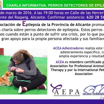CHARLA: PERROS DETECTORES DE EPILEPSIA
